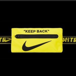 Off white X Nike yellow waist belt bag